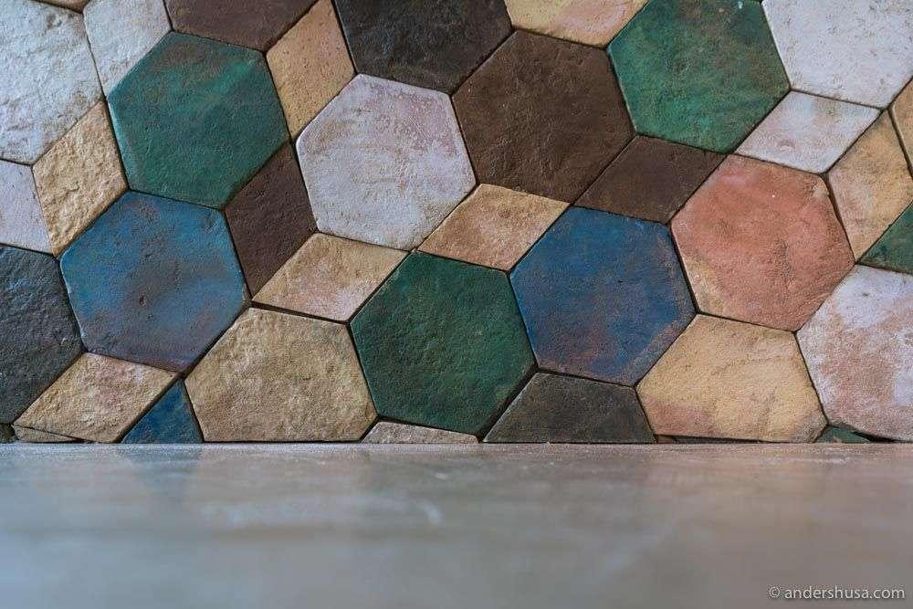 Design details inside the Carlsberg Byen restaurant.