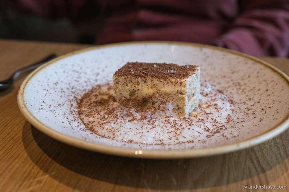 Italian tiramisu for dessert.