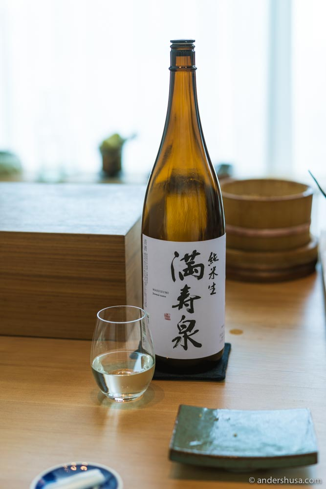 Another glass of chilled sake.