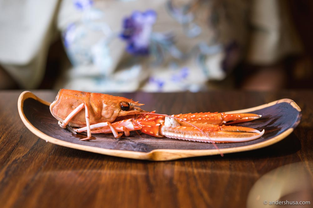 Langoustine head and liver.