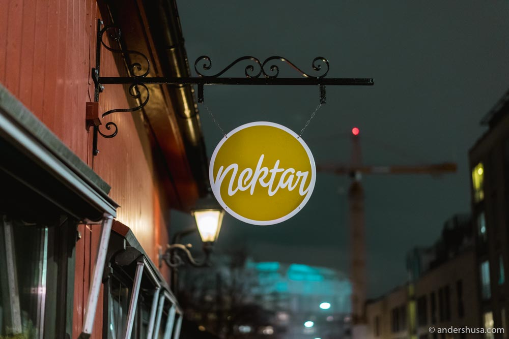 Nektar is one of the newest wine bars in Oslo.