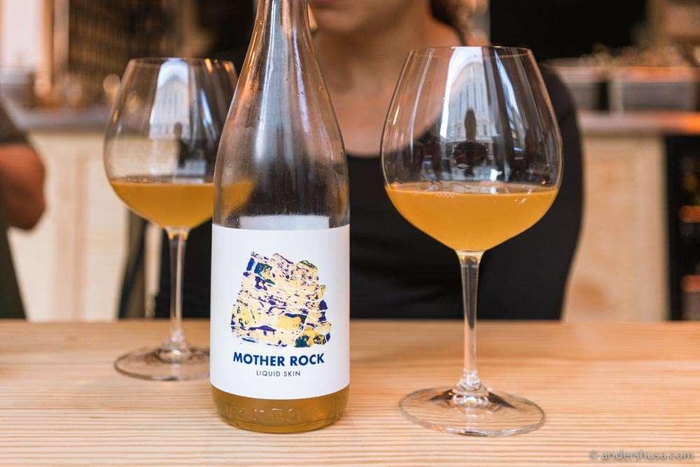 We're always happy when we find Mother Rock – Liquid Skin on the wine list at Katla!