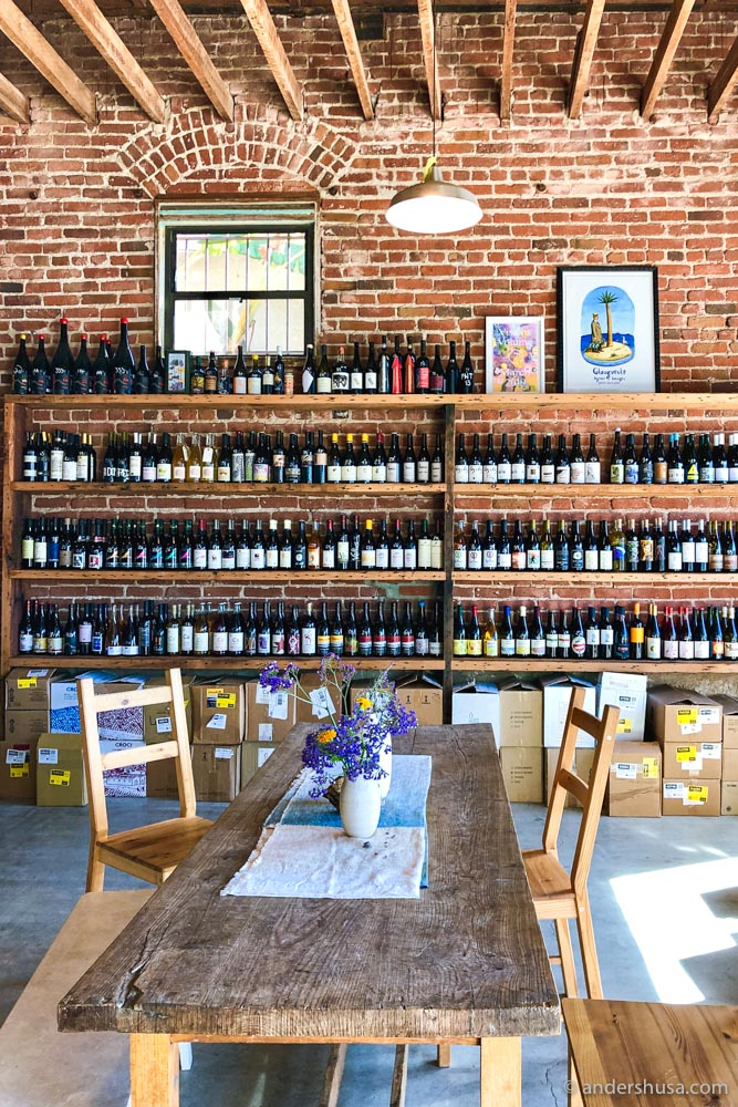 The bright and airy Psychic Wines shop in Silverlake.