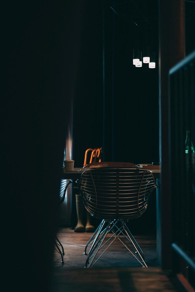 The most comfortable chair in Copenhagen, according to Alan Bates. Photo: Garrey Dawson.