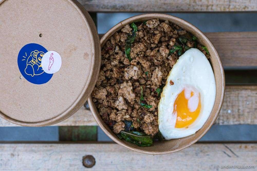 Holy Krapow serves pad krapow, Thai street food, in Vesterbro.